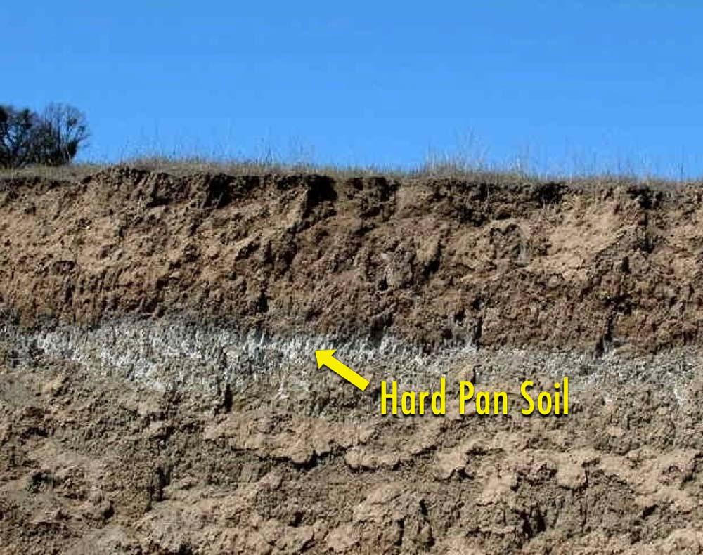 Hard pan soil
